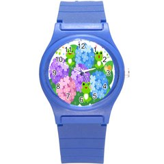Animals Frog Face Mask Green Flower Floral Star Leaf Music Round Plastic Sport Watch (s) by Mariart