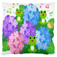 Animals Frog Face Mask Green Flower Floral Star Leaf Music Large Cushion Case (two Sides) by Mariart