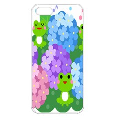 Animals Frog Face Mask Green Flower Floral Star Leaf Music Apple Iphone 5 Seamless Case (white) by Mariart