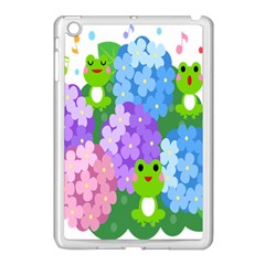 Animals Frog Face Mask Green Flower Floral Star Leaf Music Apple Ipad Mini Case (white) by Mariart