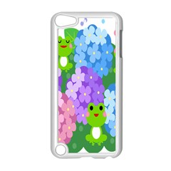 Animals Frog Face Mask Green Flower Floral Star Leaf Music Apple Ipod Touch 5 Case (white) by Mariart