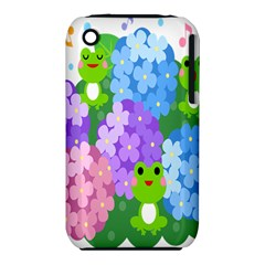 Animals Frog Face Mask Green Flower Floral Star Leaf Music Iphone 3s/3gs by Mariart