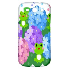 Animals Frog Face Mask Green Flower Floral Star Leaf Music Samsung Galaxy S3 S Iii Classic Hardshell Back Case by Mariart