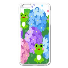 Animals Frog Face Mask Green Flower Floral Star Leaf Music Apple Iphone 6 Plus/6s Plus Enamel White Case by Mariart