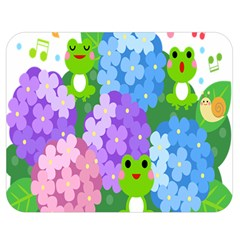 Animals Frog Face Mask Green Flower Floral Star Leaf Music Double Sided Flano Blanket (medium)  by Mariart