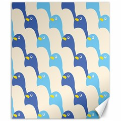 Animals Penguin Ice Blue White Cool Bird Canvas 8  X 10  by Mariart