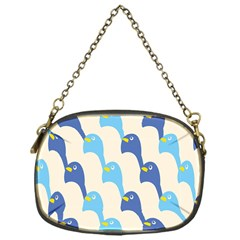 Animals Penguin Ice Blue White Cool Bird Chain Purses (one Side)  by Mariart