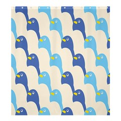 Animals Penguin Ice Blue White Cool Bird Shower Curtain 66  X 72  (large)  by Mariart