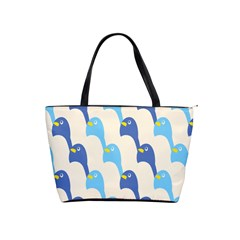 Animals Penguin Ice Blue White Cool Bird Shoulder Handbags by Mariart