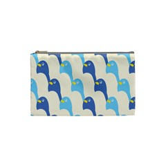 Animals Penguin Ice Blue White Cool Bird Cosmetic Bag (small)  by Mariart