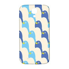 Animals Penguin Ice Blue White Cool Bird Samsung Galaxy S4 I9500/i9505  Hardshell Back Case by Mariart