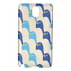 Animals Penguin Ice Blue White Cool Bird Samsung Galaxy Note 3 N9005 Hardshell Case by Mariart
