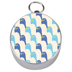 Animals Penguin Ice Blue White Cool Bird Silver Compasses by Mariart