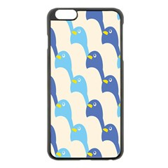 Animals Penguin Ice Blue White Cool Bird Apple Iphone 6 Plus/6s Plus Black Enamel Case by Mariart