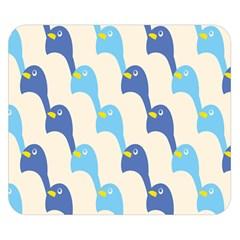 Animals Penguin Ice Blue White Cool Bird Double Sided Flano Blanket (small)  by Mariart