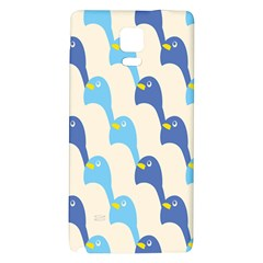 Animals Penguin Ice Blue White Cool Bird Galaxy Note 4 Back Case by Mariart