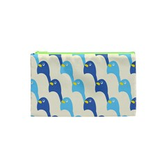 Animals Penguin Ice Blue White Cool Bird Cosmetic Bag (xs) by Mariart