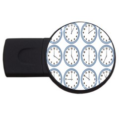 Alarm Clock Hour Circle Usb Flash Drive Round (2 Gb) by Mariart
