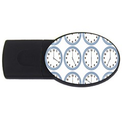 Alarm Clock Hour Circle Usb Flash Drive Oval (2 Gb) by Mariart