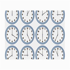 Alarm Clock Hour Circle Small Glasses Cloth by Mariart