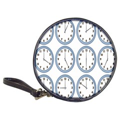Alarm Clock Hour Circle Classic 20 Cd Wallets by Mariart