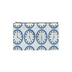 Alarm Clock Hour Circle Cosmetic Bag (small)  by Mariart