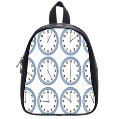 Alarm Clock Hour Circle School Bags (small)  by Mariart