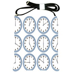 Alarm Clock Hour Circle Shoulder Sling Bags by Mariart