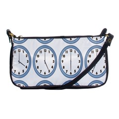 Alarm Clock Hour Circle Shoulder Clutch Bags by Mariart