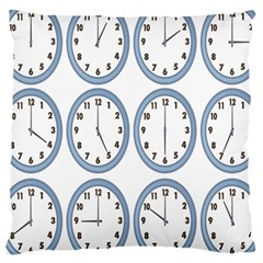 Alarm Clock Hour Circle Large Cushion Case (two Sides) by Mariart