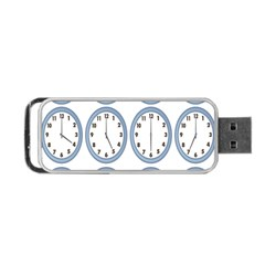 Alarm Clock Hour Circle Portable Usb Flash (one Side) by Mariart
