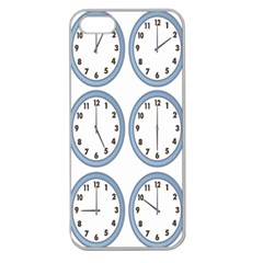 Alarm Clock Hour Circle Apple Seamless Iphone 5 Case (clear) by Mariart