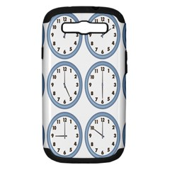 Alarm Clock Hour Circle Samsung Galaxy S Iii Hardshell Case (pc+silicone) by Mariart