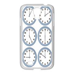 Alarm Clock Hour Circle Samsung Galaxy S4 I9500/ I9505 Case (white) by Mariart
