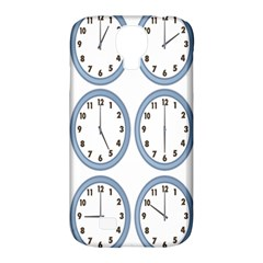 Alarm Clock Hour Circle Samsung Galaxy S4 Classic Hardshell Case (pc+silicone) by Mariart