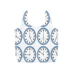Alarm Clock Hour Circle Full Print Recycle Bags (s)