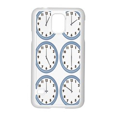 Alarm Clock Hour Circle Samsung Galaxy S5 Case (white) by Mariart