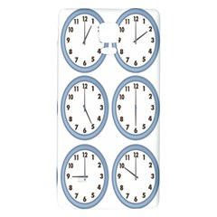 Alarm Clock Hour Circle Galaxy Note 4 Back Case by Mariart
