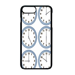 Alarm Clock Hour Circle Apple Iphone 7 Plus Seamless Case (black) by Mariart