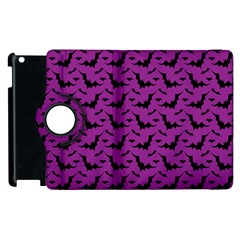 Animals Bad Black Purple Fly Apple Ipad 3/4 Flip 360 Case by Mariart
