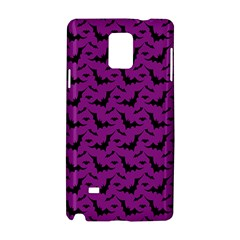 Animals Bad Black Purple Fly Samsung Galaxy Note 4 Hardshell Case by Mariart