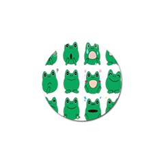 Animals Frog Green Face Mask Smile Cry Cute Golf Ball Marker (10 Pack) by Mariart