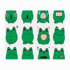 Animals Frog Green Face Mask Smile Cry Cute Small Glasses Cloth (2 Side) by Mariart