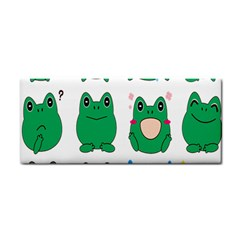 Animals Frog Green Face Mask Smile Cry Cute Cosmetic Storage Cases by Mariart