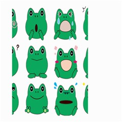 Animals Frog Green Face Mask Smile Cry Cute Small Garden Flag (two Sides) by Mariart
