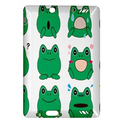 Animals Frog Green Face Mask Smile Cry Cute Amazon Kindle Fire Hd (2013) Hardshell Case by Mariart