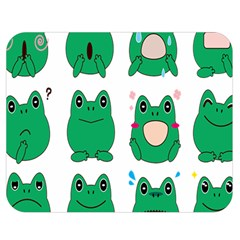 Animals Frog Green Face Mask Smile Cry Cute Double Sided Flano Blanket (medium)  by Mariart