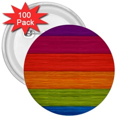 Wooden Plate Color Purple Red Orange Green Blue 3  Buttons (100 Pack)  by Mariart
