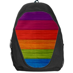 Wooden Plate Color Purple Red Orange Green Blue Backpack Bag by Mariart
