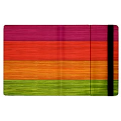 Wooden Plate Color Purple Red Orange Green Blue Apple Ipad 3/4 Flip Case by Mariart